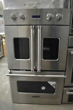 Viking 30  Stainless Steel Double Electric French Door Convection Oven VDOF730SS