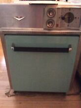 1950s Vintage 20  GE Hotpoint Turquoise Wall Oven Bakelite MCM