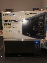 Samsung MS14K6000AG AA 1 4 cu ft  Counter Top Microwave  Black Stainless