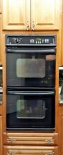 GE 27  DOUBLE WALL OVEN BLACK FINISH SELF CLEANING EXCELLENT WORKING ORDER