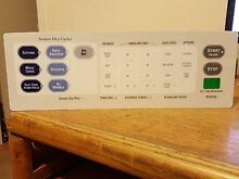 WE19M1366   Overlay for Dryer Control Panel