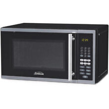 Digital Microwave Oven LED Display With Kitchen Timer Stainless Steel 700W