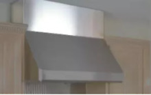 Vent A Hood  WDC42SS Duct Covers For 18 Inch Tall Range Hoods  42 Inch Width