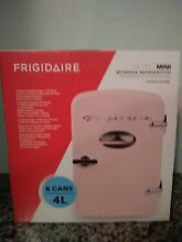 FRIGIDAIRE Pink Retro Mini Refrigerator Fridge Hold 6 Cans NEW
