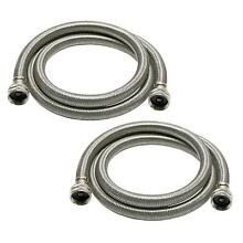 2 Pack Fluidmaster Washing Machine Hose 3 4 in  x 6 ft  High Efficiency