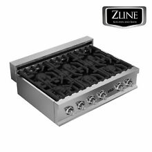 ZLINE 36  Rangetop with 6 Gas Burners STAINLESS STEEL KITCHEN  RT36