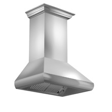 ZLINE 36  STAINLESS STEEL WALL RANGE HOOD with LED  Crown molding 587CRN 36