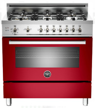 Bertazzoni PRO366GASRO Professional Series 36 Inch Pro Style Gas Range in Red