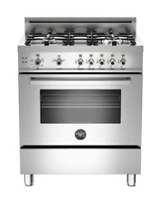 Bertazzoni PRO304GASXV 30 Inch Slide In Gas Range in Stainless Steel