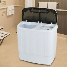 USED Portable Mini Washing Machine Compact Twin Tub 13lb Washer Spin