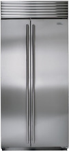 Sub Zero BI 36S S TH 36 Inch Built in Side by Side Refrigerator Stainless Steel