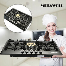 Gold 30 Inch Natural Gas LPG Burner Style Cooktop With 5 Burners Gas Cooktops