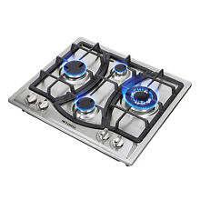 23  Elegant Curve Stainless Steel 4 Burners Stove NG LPG Gas Hob Cooktop Cooker