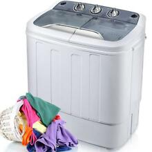 SALE  Portable Washing Machine Compact Twin Tub Washer  Grey FCC Verification