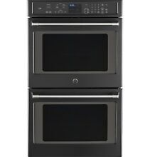 GE Caf  30  10 0 Cuft Built in Double Convection Wall Oven Black Slate CT9550EKD