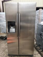 Samsung RS25H5111SR 24 5 cu  ft  Side by Side Refrigerator in Stainless Steel