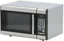 Cuisinart Microwave 1 0 cu  ft  Countertop Stainless Steel Clock Timer Turntable