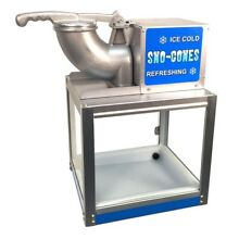 Snow Cone Maker Machine Ice Crushing Button Commercial Heavy Duty Motor Metal