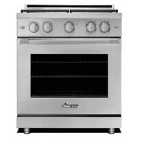 Dacor RNRP30GSNG Renaissance 30 Inch Freestanding Stainless Steel Gas Range