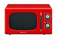 Magic Chef MCD770CR 0 7 Cu  Ft  700W Retro Countertop Microwave Oven in Red 7