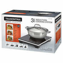 Tramontina 3 Piece Portable Induction Cooking System Covered Pan 4QT