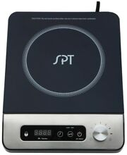 Black Cooktop  13 Power Settings  12 in 1650 Watt Induction Mini Stove Hotplate