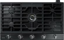 SAMSUNG 36  W Gas 5 Burner Cooktop w  22K BTU Dual Power Burner NA36K7750TG  NEW