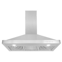 Cosmo 63190 36 in Wall Mount Range Hood 760 CFM   Ducted   Ductless Convertible