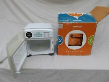 Sharp Half Pint Microwave Oven R 120DW White New in Box Vintage College Dorm