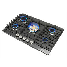 30  Black Titanium 5 Burners   Gold Built in Stoves LPG Natural Gas Cooktops