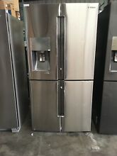 Samsung RF23J9011SR 22 5 Cu  Ft  Stainless Steel Counter Depth French Door Refri