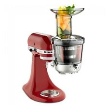 NEW KitchenAid Juicer   Sauce Attachment Extra Wide Feed Tube   Stainless Steel