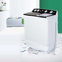 New 21LBS Semi Automatic Mini Washing Machine Compact Twin Tub Laundry