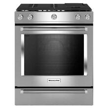 KitchenAid 30  Stainless Steel Slide in Gas Range   KSGB900ESS