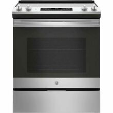 GE 30  Stainless Steel 4 Element Electric Slide In Range JS645SLSS