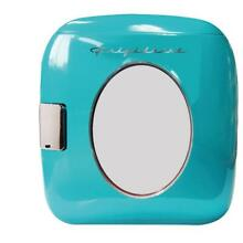 Turquoise Mini Retro Beverage Cooler 12 Cans Home Office Traveling Lunch Drinks