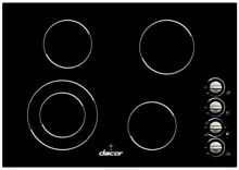 Dacor DECT304B Distinctive 30 Inch Smoothtop Electric Cooktop 4 Cooking Elements