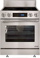 Dacor DR30ES Distinctive 30 Inch Freestanding Electric Range 4 Burners Stainless