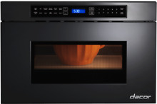 Dacor RNMD24B  Heritage 24 Inch Microwave Drawer Automatic Drawer Opening Black