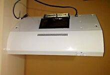GE  30  UNDER THE CABINET RANGE HOOD AND FREE NEW FILTER WHITE  JV347H1WW