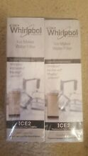 2  Genuine Whirlpool Ice Maker Water Filter ICE2 F2WC9l1 Brand New