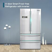 1x Thor kitchen 36  French Door Refrigerator HRF3601F with Automatic Ice Maker