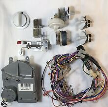 ALL PARTS INCLUDED GE washer timer 175d2307p006 175d2315p017 175d2 Knobs latch