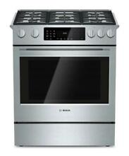 Bosch 800 Series 30  4 6 cb  ft  Duel Fuel Convection Stainless Range HDI8054U