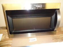 Whirlpool Microwave Door  Assembly With Handle  Stainless WMH3107HS   SE253
