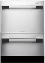 Fisher   Paykel DD24DDFTX7 with Eco Option   Straight Handle Double DishDrawer