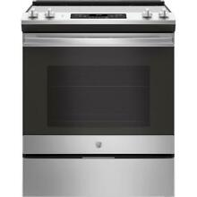 GE JS645SLSS 30 in  5 3 cu  ft  Slide In Electric Range SS  Self Cleaning