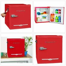 Retro Mini Fridge With Bottle Opener Red Portable Tabletop Frigidaire 1 6 Cu Ft