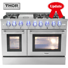 Thor Kitchen HRD4803U 48  Dual Fuel Range With 6 Burner Gas Cooktop Oven Cooker