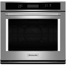 KitchenAid 30  W Electric Single Even Heat Convection Wall Oven  KOSE500ESS  NEW